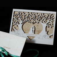 personalised 'just married' box
