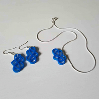 'infinity' jewellery set (blue)