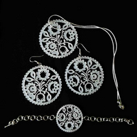 'folky' jewellery set (white)