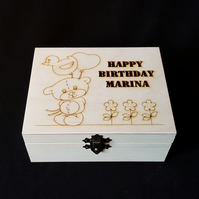 personalised 'happy birthday' box