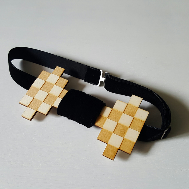 'checkmate' bow-tie