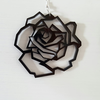 'geometric rose' earrings