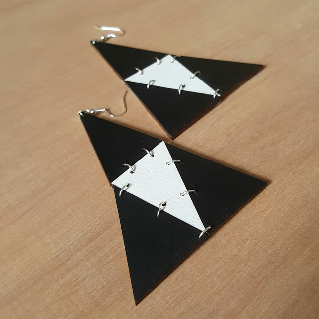 'funky triangles' earrings