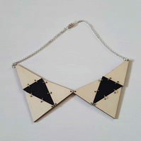 'funky triangles' necklace