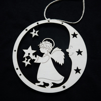 'on the moon' christmas tree decorations