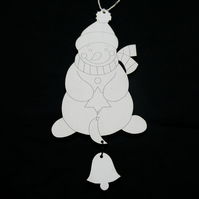 'mr snowman' christmas tree decorations