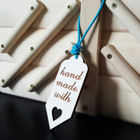 'handmade with love' wooden tags (set of 5)