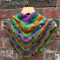 Multi Coloured Triangle Scarf