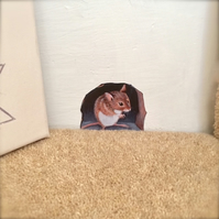 Mouse in hole (Monty) wall decal.