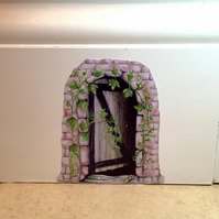 Fairy Door wall sticker Decal - Enchanted secret door