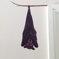 Bat wall sticker decal - Brian the fruit bat