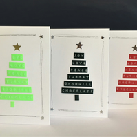 Dymo Christmas Card (pack of 3)
