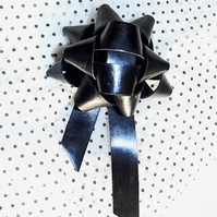 Leather gift bow - Black gloss