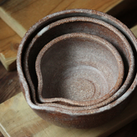 Three vinage  Bowls-wheel ttown pottery