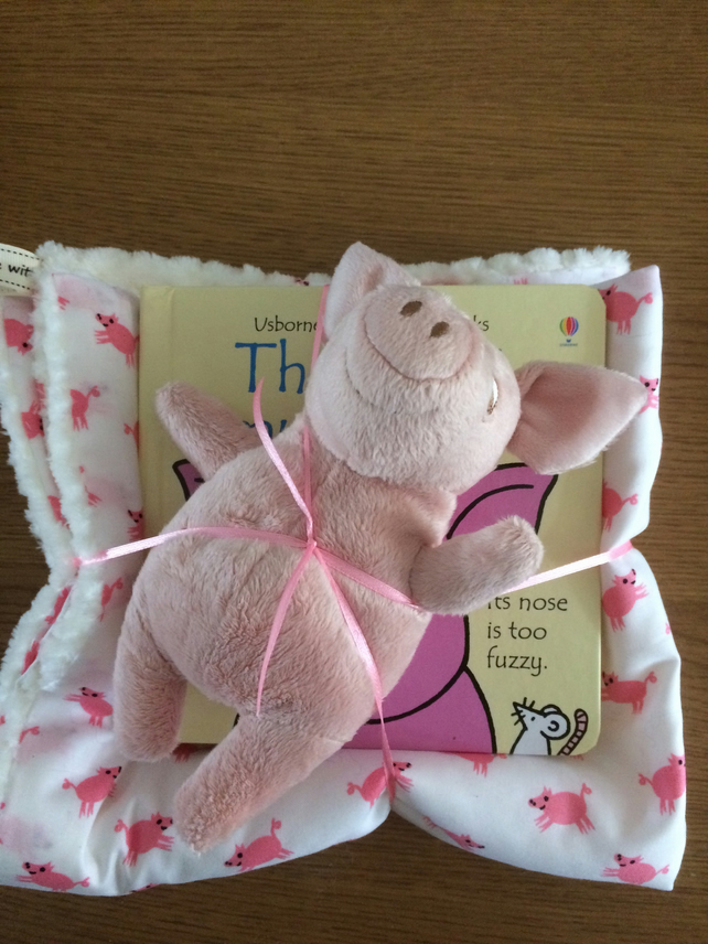 Soft cuddle blankie, book and soft toy