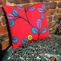 Multicoloured leaf Cushion
