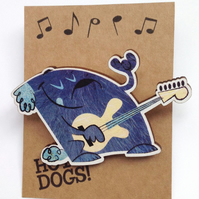 Bass dog brooch