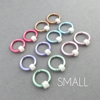 Circle-Os, pastel non snag ring stitch markers for knitting, small, up to 4.5mm