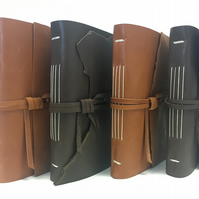Long stitch leather journal