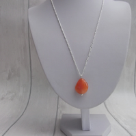 Carnelian tumble stone necklace