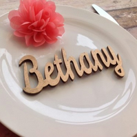 Wedding place setting names laser cut dinner party (x10)