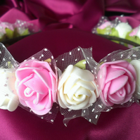 WEDDING HAIRBAND,BEAUTY ROSE FLOWER CROWN HEADBAND,HAIR ACCESSORIES