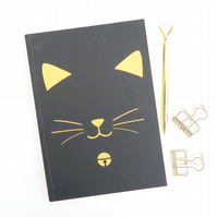 Cat notebook, Cat birthday gift, Blank notebook, Cat lover gift, Cat owner gift