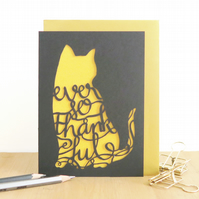 Ever so thankful card, Thank you card, Grateful cat card