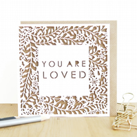 You are loved card, I love you card, Love card, Anniversary card