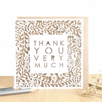Thank you very much, Luxury thank you card, Thank you card