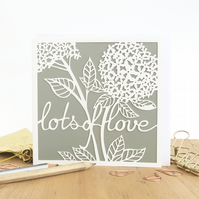 Lots of love card, Mother's Day card, Handmade Mother's Day card, Card for mum