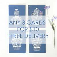 Greeting card set, Choose your own cards, Greeting card pack, Mixed cards