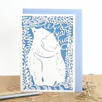 Bear hugs card, Mother's Day card. Cute Mothers day card, Mother bear card