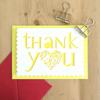 Thank you card, Thanks card, Merci card, Grateful card, Luxury thank you card