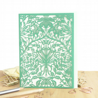William Morris card, Lily lover card, Wife birthday card, Luxury birthday card
