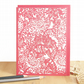 William Morris card, Morris chrysanthemums card, Mum birthday card