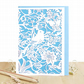 William Morris card, Birthday bird card, Morris lover card, Wife birthday card