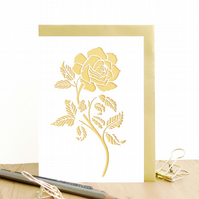 Anniversary card for wife, Romantic anniversary card, Rose card for wife