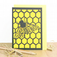 Bee lover card, Birthday bee card, Bee card, Bumble bee card, Insect lover card