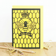 Happy birthday card, Bee birthday card, Beekeeper card, Bee lover card