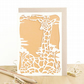 Giraffe card, Giraffe birthday card, Cute birthday card, Birthday card for men