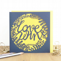 Love wins card, Gay wedding card, Anniversary card, Romantic card for men