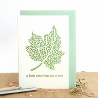 A little note card, Birthday note card, Just to say card, Romantic note card