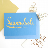 Father's Day card ,Superdad card, Dad birthday card, Father birthday card