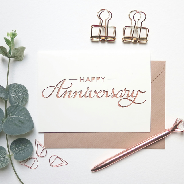 Wedding anniversary card, Happy anniversary card, Husband anniversary card