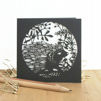 Hedgehog card, Hedgehog birthday card, Cute hedgehog card, Nature lover card