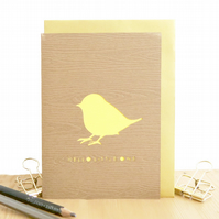 New baby card, Baby chick card, Expecting card, Welcome to the world card