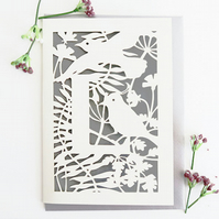 Letter L card, Personalized letter card, Initial birthday card, Initial card