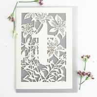 Letter T card, Personalized letter card, Initial birthday card, Initial card