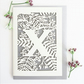Letter X,Y,Z card, Personalized letter card, Initial birthday card, Initial card